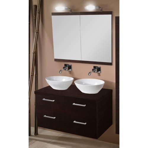 Iotti Iotti A16-Wenge-637509918927 Aurora Collection Bathroom Vanity, Wenge - Iotti Aurora Collection