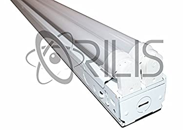 (4-Pack) Orilis 8 FT LED Commercial Retail Flush Mount 4 Light T8 Fixture w/ (4) 24W LED Tubes 96W Total 6500K