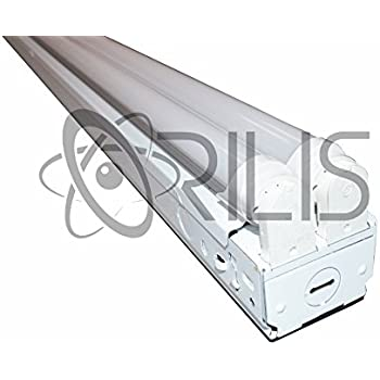 Lovely 8 FT LED Industrial Retail Flush Mount 4 Light T8 Fixture W/ 4X 24W LED  Tubes 96W Total 6500k Equivalent To 256W Fluorescent Fixture 30% Brighter  Than 18W ...