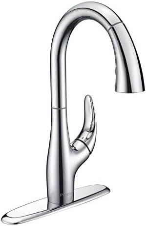 Purelux Calla Kitchen Sink Faucet With Pull Down Sprayer High Arc Satin Stainless Finish Pull Out Sprayer Buy Online In Trinidad And Tobago At Desertcart