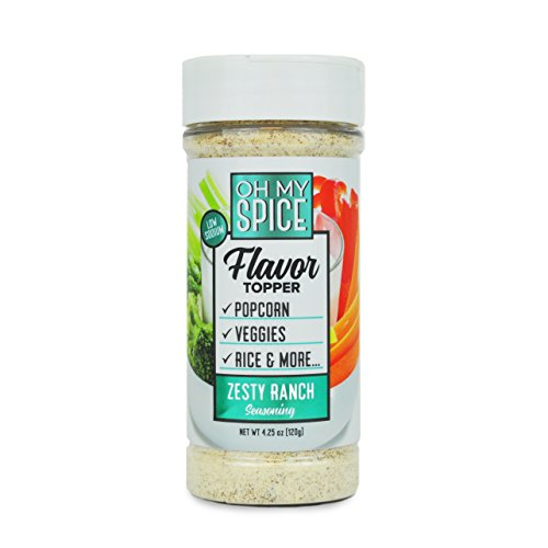 Zesty Ranch Low Sodium Seasoning, Kick Your New Years Resolution Off Right, Perfect for People Looking for Paleo, and Gluten-Free Seasoning for Their Meals