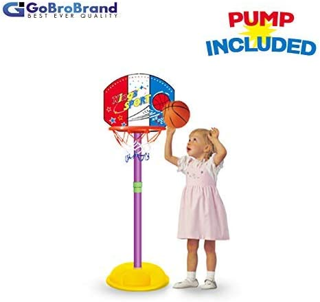 GoBroBrand Toddler Basketball Hoop - Kids Easy Score Basketball Game with Adjustable Height