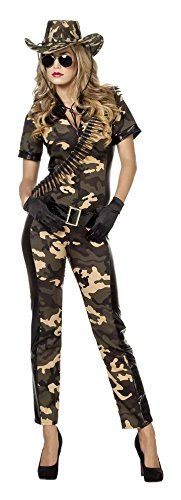Soldatin Kostum Damenkostume Damen Karneval Fasching Overall Gurtel