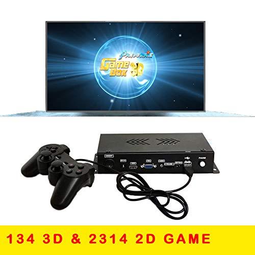 DIY 1080P 720P Arcade Emulator Console Cabinet Pandora's Box 3D Neo Geo SNK Retro Classic Arcade Game Machine 2448 in 1 Portable Metal Box HD Home TV Game Machine Support Extend 3D Game with Gamepad