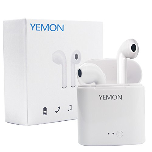 YEMON Wireless Bluetooth Earphone Stereo in-Ear Earbud Version 4.2 Bluetooth Headphone with Charging Case for Android and iOS …
