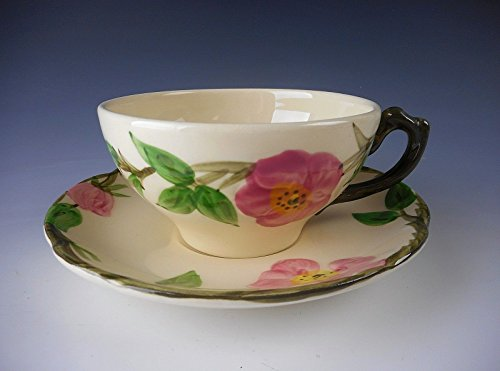 Franciscan Pottery DESERT ROSE - Fly F/USA Stamp Cup & Saucer Set(s) (Desert Rose Pottery)