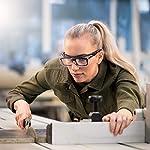 NoCry Over-Spec Lunettes de sécurité avec verres rayures enveloppante, avec certification ANSI Z87et OSHA et branches réglables et protection contre les rayons UV 400, Noir et Orange 9