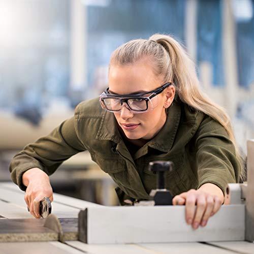 NoCry Over-Spec Lunettes de sécurité avec verres rayures enveloppante, avec certification ANSI Z87et OSHA et branches réglables et protection contre les rayons UV 400, Noir et Orange 2