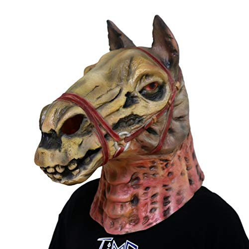 Gmasking Latex Evil Zombie Horse Skull Head Mask Halloween Exclusive Props