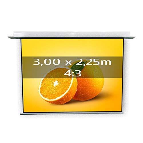 KIMEX 048-1507 Pantalla de proyección eléctrica empotrable 3,00 x ...