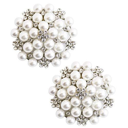 ElegantPark CW Crystal Decoration Wedding Party Accessories Gift Shoe Clips 2 Pcs Silver by ElegantPark