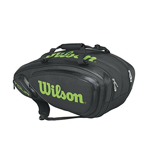 Wilson Tour V 9 Pack Tennis Bag, Black/Lime