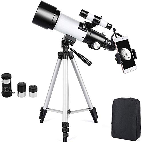 Astronomical Telescope Zoom 132X Adjustable Tripod Backpack Phone Holder for Moon Viewing - 70mm Aperture 400mm Astronomical Refracting Telescope for Kids Beginners