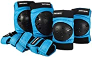 Retrospec Adult/Youth/Child Knee Pads Elbow Pads and Wrist Guards Protective Gear