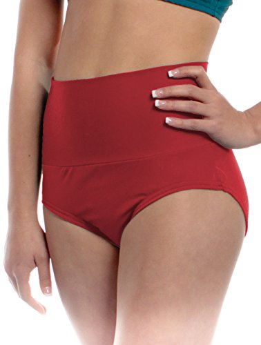 Womens High Waisted Brief Adult Sizes Can Be Used As Trunks Shorts Underpants and Performance Dancer Bottoms by B Dancewear