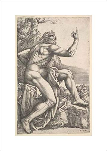 Battista Franco - 14x20 Art Print by Museum Prints - John The Baptist Preaching in The Wilderness