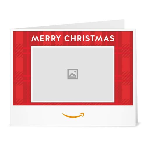 Christmas Plaid (Your Upload) gift card to print at home link image
