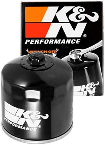 K&N モーターサイクルオイルフィルター 高性能 プレミアム 合成オイルまたは従来のオイル用に設計 ホンダ、カワサキ車 KN-202に適合