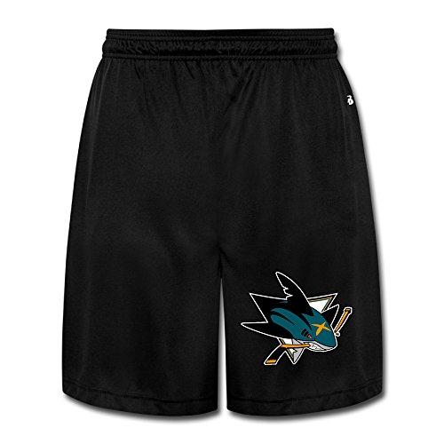 fan products of PKTWO San Jose Sharks Sharpedo Men's Latest Short Training Pants Shorts L Black