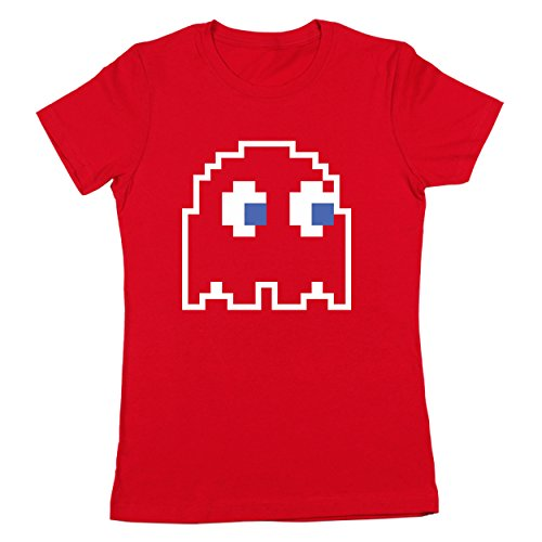 8-Bit Video Game Ghost Group Halloween Costume Womens Shirt X-Large Red