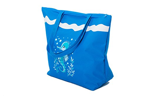 Canvas Bags Ladies x For Flip Shopper x PLUS Set for Tote Piece 38 Beach Towel Beach Flops Girls Summer closure Bag 16 Towels Women The Blue Fairee 3 Dark Airee cms By Seahorse 50 zipped PLUS For Pool Features wT6q1px