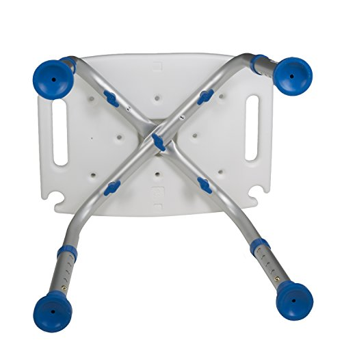 Pcp Bath Bench Shower Chair Safety Seat, Adjustable Height, Stability Grip Traction, Medical Grade Senior Living Spa Aid, Mobility Recovery Support, White/Blue by PCP (Image #5)