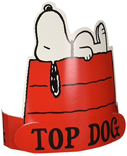 Eureka Peanuts Snoopy Top Dog Wearable Paper Hat, 32 pcs. -