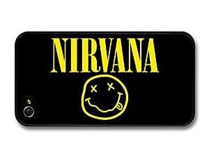 AMAF ? Accessories Nirvana Logo Yellow Face Kurt Cobain case for iPhone 4 4S