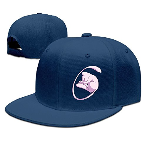 [Boss-Seller UnisexCute Poke Cute Mew Running Baseball Navy] (Sly Cooper Cosplay Costumes)