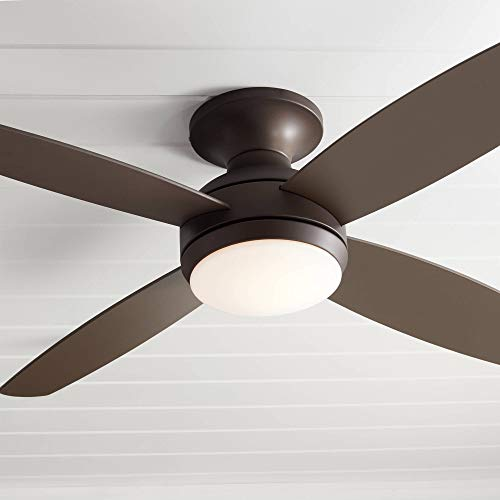 Casa Vieja Elite Ceiling Fan Dimmable Flush Mount Fan 52''