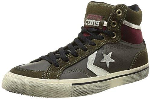 Converse Pro Blaze HI Leather/Suede, Herren Sneaker 15 Pineneedle/D.Cactus