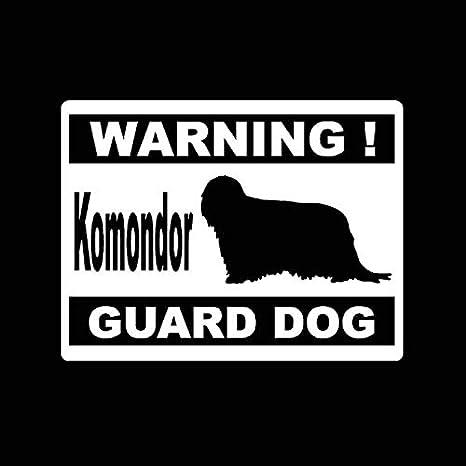 RJGOPL Autoaufkleber Komondor///16CM 12.2CM Warnung Dog Guard Vinyl Auto Styling Auto Aufkleber Schwarz//Silber C2-3325///Silber