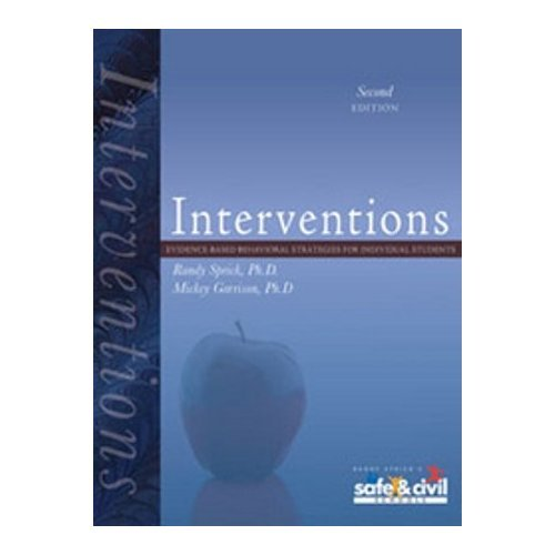 Interventions: Evidence-Based Behavioral Strategies for Individual Students