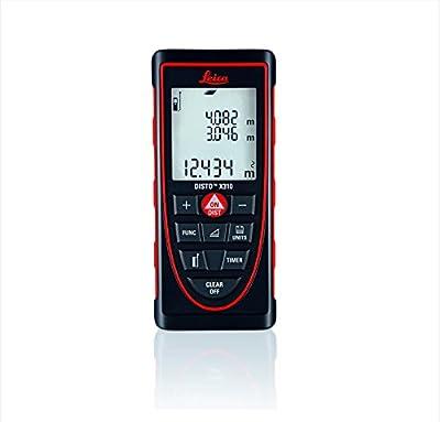 Leica Disto X310 (E7400X) Digital Laser Distance Meter, Distance Measurer - Water Jet Protection, Red/Black