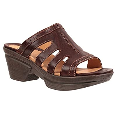 amazon com sanita women s nina slide sandals brown 41 m eu 10