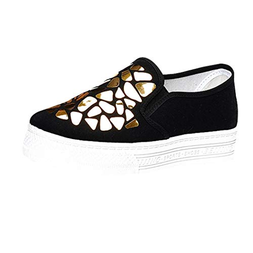 Sports 39 Breathable Park Shoes Swim Shoes Ladies Canvas Shallow Gold Lake Sports Casual Muffin for Sequined Theshy Walking Shoes Driving Beach Boating Garden z8IqW1WR