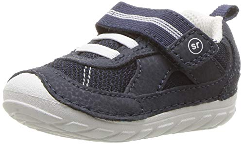 Stride Rite Boys' Soft Motion Jamie Sneaker, Navy/White, 4.5 W US Toddler (Shoes Baby Ride Stride)