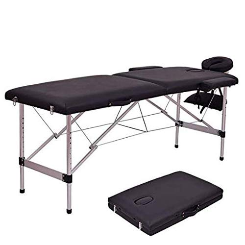 """Massage Table Portable, Waterjoy 2 Folding Massage Bed Professional Spa Bed 84"""" L long, Portable Facial Salon Tattoo Bed with Carry Case"""