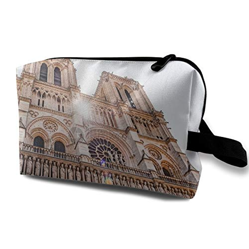 Lofout Notre Dame De Paris, France Cosmetic Bags Small Makeup Clutch Pouch Cosmetic and Toiletries Organizer Bag Women Makeup Travel Storage 10 X 6.3 X 5 -