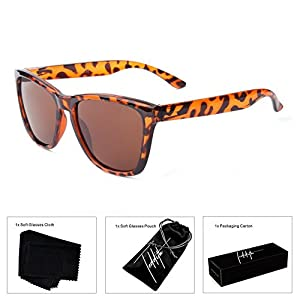 Teddith Polarized Sunglasses Gradient Plastic Frame (Leopard)