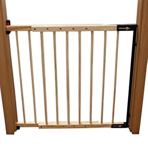 Tectake barrera de seguridad para puertas y escaleras para ni os perros 73 118cm beb - Barreras seguridad escaleras ...