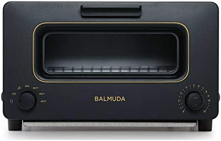 BALMUDA The Toaster | Steam Oven Toaster | 5 Cooking Modes - Sandwich Bread, Artisan Bread, Pizza, Pastry, Oven | Compact Design | Baking Pan | K01M-KG | Black | US Version