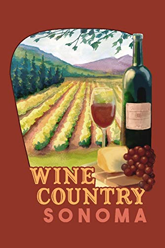 (Sonoma County Wine Country - Contour 98319 (16x24 SIGNED Print Master Art Print w/Certificate of Authenticity - Wall Decor Travel Poster))