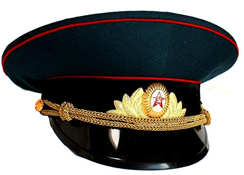 Soviet/ USSR Army Military Parade Hat / Cap ORIGINAL Armor Officer+ Soviet Cap Badge, Size 58