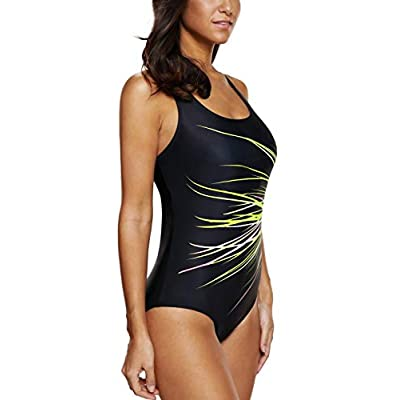 CharmLeaks One Piece Swimsuits Athletic Racerback Bathing Suits Racing Swimwear: Clothing