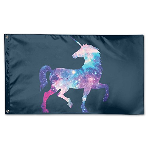 - TUMMMM Universe Unicorn Garden Flag&Decorative Flag For Wedding Home Outdoor Garden&Anniversary Home Outdoor Garden Decor 3' X 5'