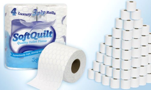 40 ROLLS OF SOFT QUILT 3 Ply Quilted Toilet Tissue Roll Rolls ... : quilted toilet paper - Adamdwight.com