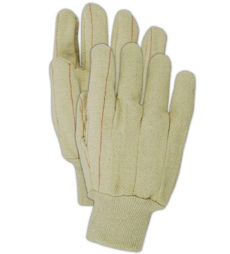 Mill Knit Hot (Magid 596K Cotton Heavy Duty Double Ply Hot Mill Glove, Work, Men Size, Natural (One Dozen))