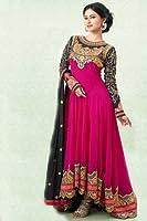 V.K.Creation Women's Georgette Dress Material (pink naj 02_Free Size_Pink)