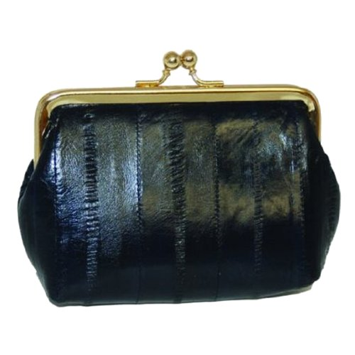 Purse Eel Skin (Eel skin Leather Coin Purse Snap Closure #E905)